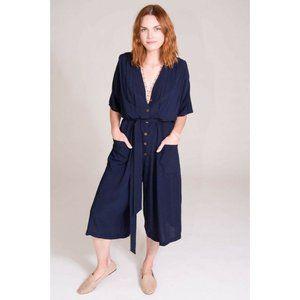 Tysa Jumpsuit XS/S Navy Blue Soft Rayon Classic Bu